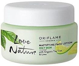 Parfémy, Parfumerie, kosmetika Matující balzám na obličej s organickým čajovým dřevem a limetkou - Oriflame Love Nature Mattifyng Face Lotion