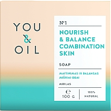 Parfémy, Parfumerie, kosmetika Vyživující mýdlo pro smíšenou pokožku - You & Oil Nourish & Balance Combination Skin