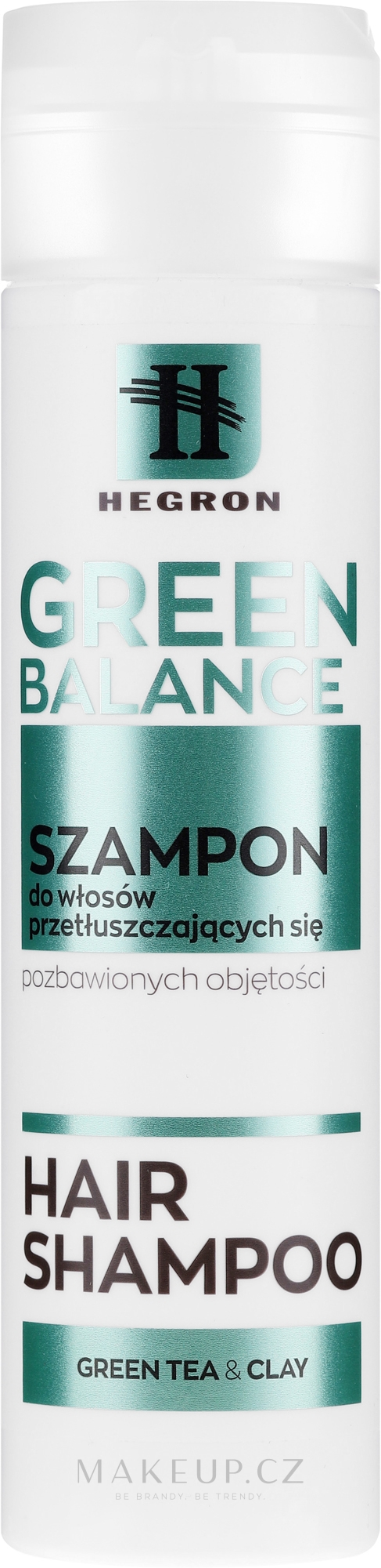 Šampon pro mastné vlasy - Hegron Green Balance Hair Shampoo — foto 230 ml