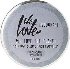 "Parfémy, Parfumerie, kosmetika Přírodní krémový deodorant ""So Sensitive"" - We Love The Planet Deodorant So Sensitive"