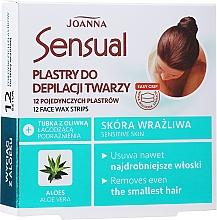 Parfémy, Parfumerie, kosmetika Voskový depilační náplast na obličej s extraktem z aloe - Joanna Sensual Depilatory Face Strips