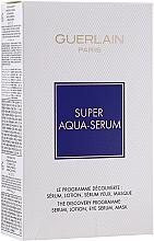 Parfémy, Parfumerie, kosmetika Sada  - Guerlain Super Aqua Serum Set (serum/50ml + eye/serum/5ml + mask/1pcs + lot/15ml)