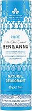 Parfémy, Parfumerie, kosmetika Deodorant na základě jedlé sody Čistota (karton) - Ben & Anna Pure Natural Soda Deodorant Paper Tube