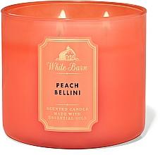 Parfémy, Parfumerie, kosmetika Bath And Body Works White Barn Peach Bellini 3-Wick Candle - Parfémovaná svíčka