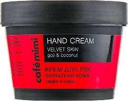 """Parfémy, Parfumerie, kosmetika Krém na ruce """"Sametová kůže"""" Goji a kokos - Cafe Mimi Hand Cream Velvet Skin"""
