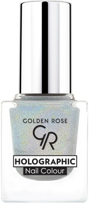 Lak na nehty - Golden Rose Holographic Nail Colour
