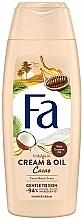 """Parfémy, Parfumerie, kosmetika Krémový gel do sprchy """"Kakaový a kokosový olej"""" - Fa Cacao Butter And Coco Oil"""