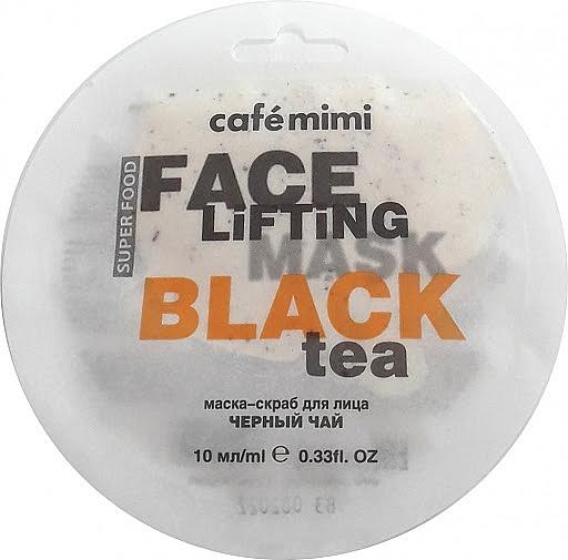 Maska-scrub na obličej Černý čaj a Lemongrass - Cafe Mimi Face Mask