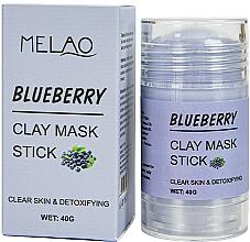"""Parfémy, Parfumerie, kosmetika Maska na obličej """"Blueberry"""" - Melao Blueberry Clay Mask Stick"""
