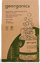 """Parfémy, Parfumerie, kosmetika Tablety pro čištění zubů """"Čajový strom"""" - Georganics Natural Toothtablets Tea Tree (náhradní náplň )"""