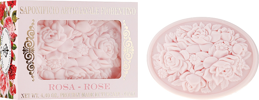 Přírodní mýdlo Růže - Saponificio Artigianale Fiorentino Botticelli Rose Soap