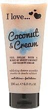 Parfémy, Parfumerie, kosmetika Tělový peeling - I Love... Coconut & Cream Velvety Hydrates Exfoliating Shower Smoothie