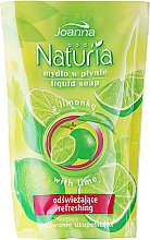 "Parfémy, Parfumerie, kosmetika Tekuté mýdlo ""Lime"" - Joanna Naturia Body Lime Liquid Soap (Refill)"
