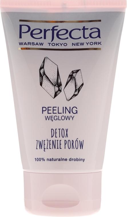Čisticí pleťový peeling s aktivním uhlím - Perfecta Detox Carbon Scrub