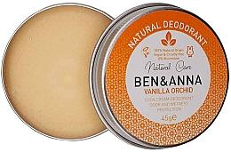 Parfémy, Parfumerie, kosmetika Přírodní krémový deodorant - Ben & Anna Vanilla Orchid Soda Cream Deodorant