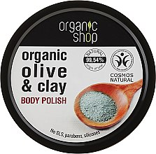 "Parfémy, Parfumerie, kosmetika Peeling na tělo ""Modrá hlína"" - Organic Shop Body Scrub Organic Olive & Clay"