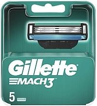 Parfémy, Parfumerie, kosmetika Náhradní hlavice k holicímu strojku, 5 ks - Gillette Mach3