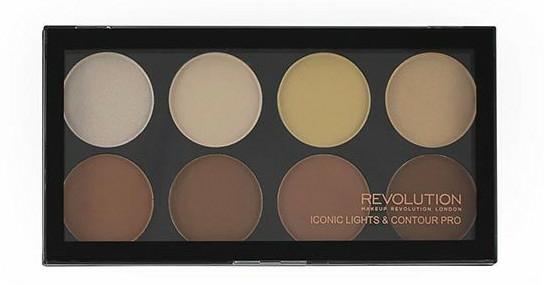 Paleta tvářenek, 8 odstínů - Makeup Revolution Iconic Lights & Contour Pro