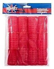 Parfémy, Parfumerie, kosmetika Natáčky na suchý zip, červené - Ronney Professional Velcro Roller