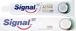Parfémy, Parfumerie, kosmetika Zubní pasta - Signal Long Active Nature Elements Coco White