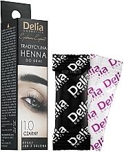 Parfémy, Parfumerie, kosmetika Barva na obočí prášková černá - Delia Brow Dye Henna Traditional Black
