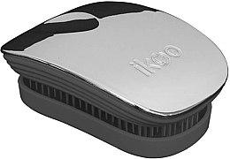 Parfémy, Parfumerie, kosmetika Kartáč na vlasy - Ikoo Pocket Oyster Metallic Black