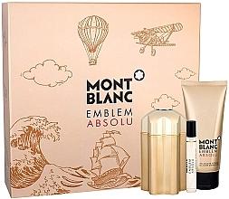 Parfémy, Parfumerie, kosmetika Montblanc Emblem Absolu - Sada (edt/100ml + sh/gel/100ml + edt/7.5ml)