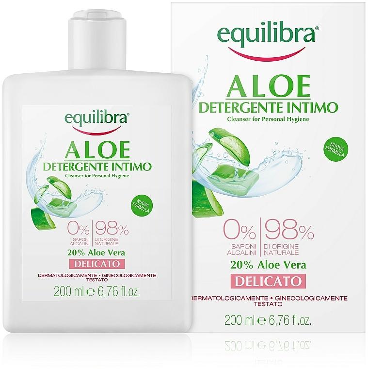 Jemný gel pro intimní hygienu - Equilibra Aloe Gentle Cleanser For Personal Hygiene