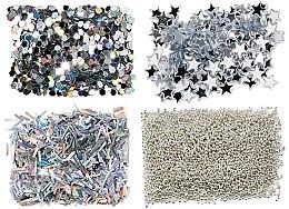 Parfémy, Parfumerie, kosmetika Sada třpytek, stříbro - Peggy Sage Nail Glitter Mini Kit Argent