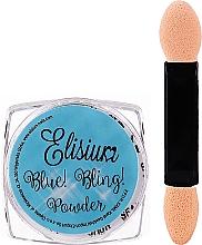 Parfémy, Parfumerie, kosmetika Pudr na nehty - Elisium Blue Bling Powder