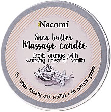 """Parfémy, Parfumerie, kosmetika Svíčka s olejem """"Pomeranč a vanilka"""" - Nacomi Shea Butter Massage Candle"""