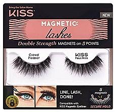 Parfémy, Parfumerie, kosmetika Umělé magnetické řasy - Kiss Magnetic Lashes Double Strength KMEL 05 Crowd Pleaser