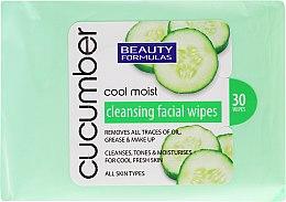 Parfémy, Parfumerie, kosmetika Odličovací ubrousky s výtažkem z okurky - Beauty Formulas Cucumber Cleansing Facial Wipes