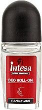 "Parfémy, Parfumerie, kosmetika Kuličkový deodorant ""Ilang-Ilang"" Intesa - Intesa Classic Black Ylang-Ylang Deo Roll-On"
