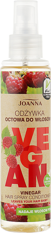 Vlasový kondicionér ve spreji Malinový ocet - Joanna Vegan Vinegar Hair Spray Conditioner