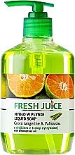Parfémy, Parfumerie, kosmetika Gelové mýdlo na tělo - Fresh Juice Green Tangerine & Palmarosa