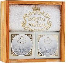Parfémy, Parfumerie, kosmetika Sada - Essencias De Portugal Senses Wooden Box (soap/2x200g + towel)
