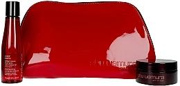 Parfémy, Parfumerie, kosmetika Sada - Shu Uemura Art Of Hair Color Lustre (shmp/75ml + h/wax/77ml + bag)