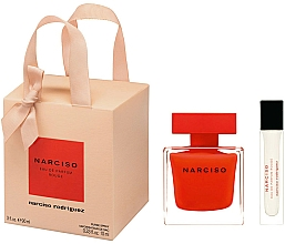 Parfémy, Parfumerie, kosmetika Narciso Rodriguez Narciso Rouge - Sada (edp/90ml + edp/mini/10ml)