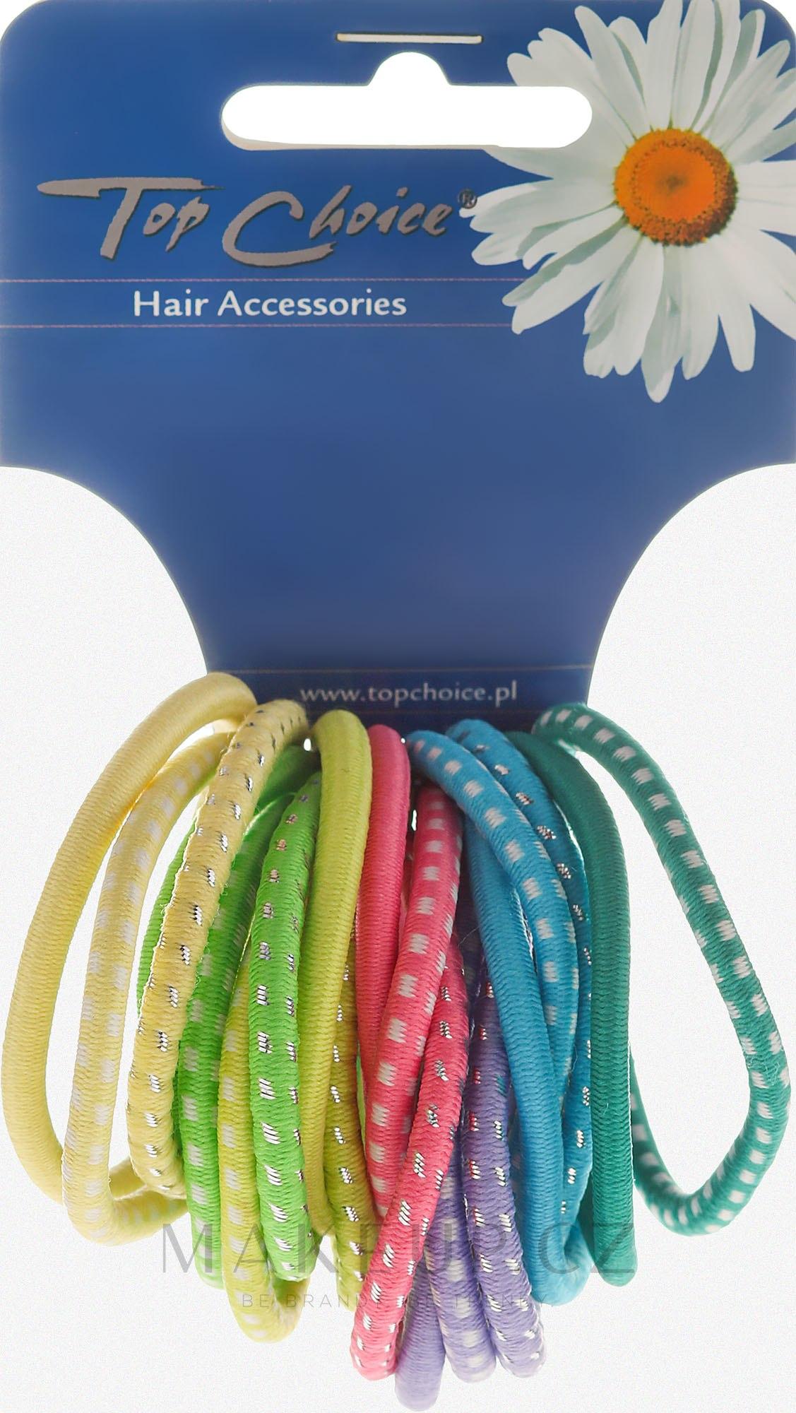 Gumičky do vlasů 20ks, barevný mix, 22159 - Top Choice — foto 20 ks.