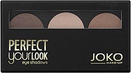 Parfémy, Parfumerie, kosmetika Tříbarevné oční stíny - Joko Perfect Your Look Trio Eye Shadows