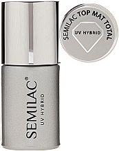 Parfémy, Parfumerie, kosmetika Matný vrchní lak - Semilac UV Hybrid Top Mat