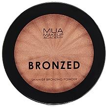 Parfémy, Parfumerie, kosmetika Třpytivý bronzující pudr na obličej - MUA Bronzed Shimmer Bronzing Powder Solar Shimmer
