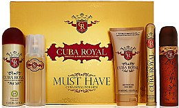 Parfémy, Parfumerie, kosmetika Cuba Royal Must Have - Sada (edt/100ml + ash 100ml + sh/gel/200ml + deo/200ml + edt/35ml)