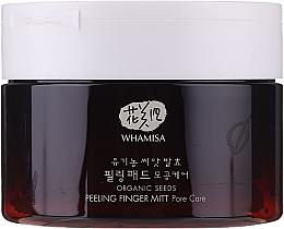 Parfémy, Parfumerie, kosmetika Houbičky na peeling obličeje - Whamisa Organic Seeds Peeling Finger Mitt Pore Care