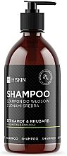 "Parfémy, Parfumerie, kosmetika Šampon s ionty stříbra ""Bergamot a reveň"" - HiSkin Bergamot & Rhubarb Shampoo"