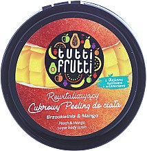 """Parfémy, Parfumerie, kosmetika Cukrový peeling na tělo """"Broskev a mango"""" - Farmona Tutti Frutti Sugar Scrub"""