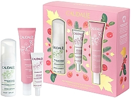 Parfémy, Parfumerie, kosmetika Sada - Caudalie Vinosource Les Indispensables Hydratation (clean/mousse/50ml +serum/10ml + cream/sorbet/40ml)