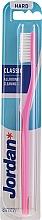 Zubní kartáček tvrdý Classic, růžový - Jordan Classic Hard Toothbrush — foto N1