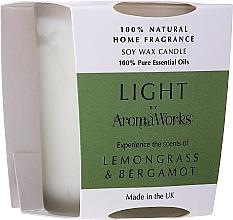 Parfémy, Parfumerie, kosmetika Aromatická svíčka Citronová tráva a bergamot - AromaWorks Light Range Lemongrass & Bergamot Candle